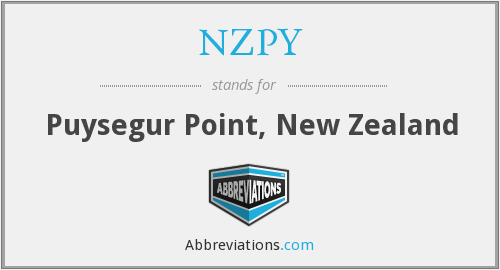 NZPY - Puysegur Point, New Zealand