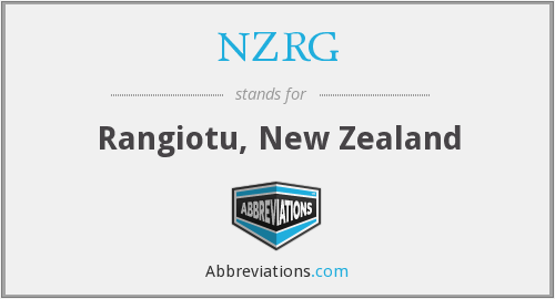 NZRG - Rangiotu, New Zealand