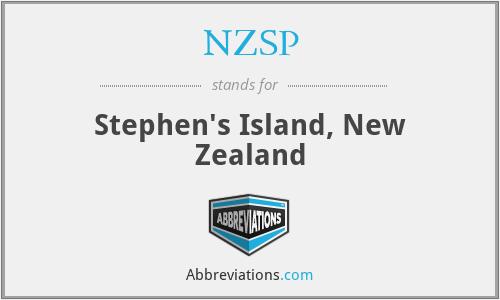 NZSP - Stephen's Island, New Zealand