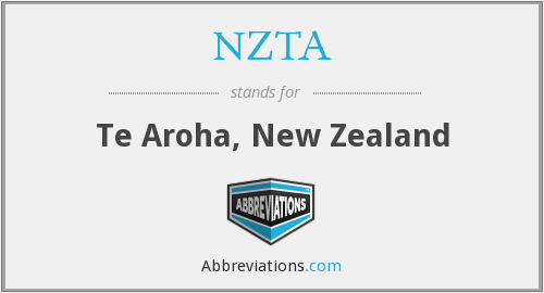 What does NZTA stand for?