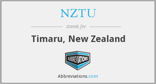 NZTU - Timaru, New Zealand