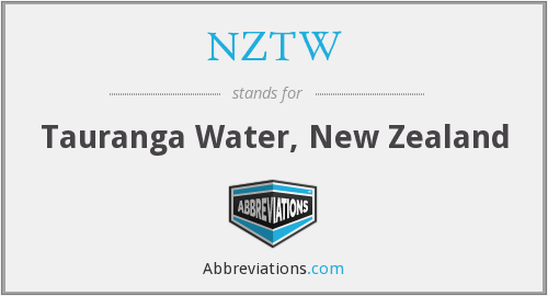 NZTW - Tauranga Water, New Zealand
