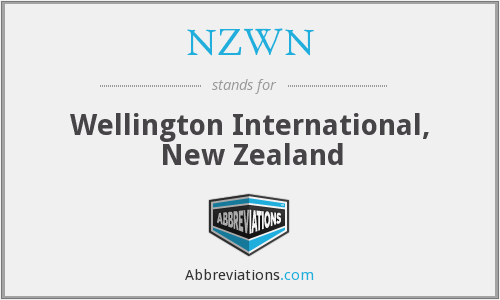 NZWN - Wellington International, New Zealand