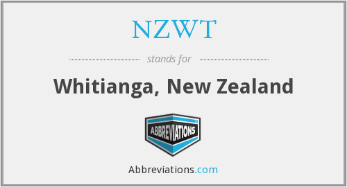 NZWT - Whitianga, New Zealand