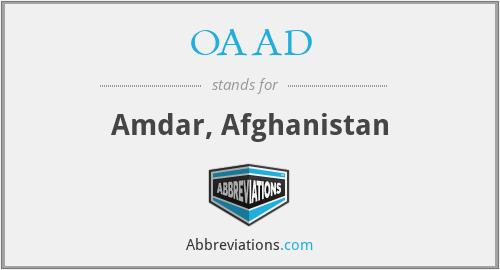 OAAD - Amdar, Afghanistan