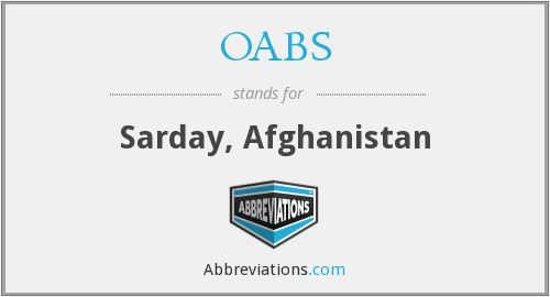 OABS - Sarday, Afghanistan