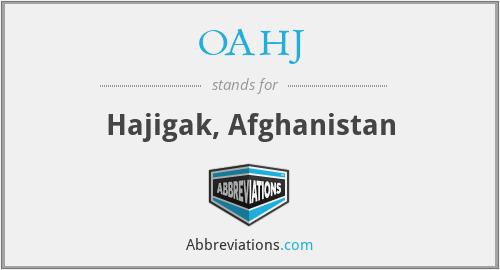 OAHJ - Hajigak, Afghanistan