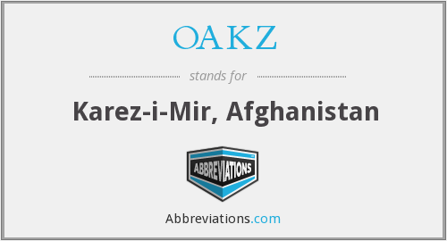 What does OAKZ stand for?