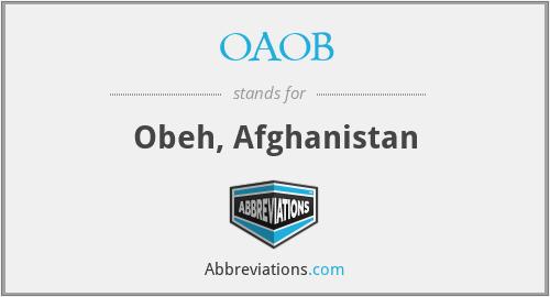OAOB - Obeh, Afghanistan