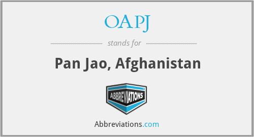 OAPJ - Pan Jao, Afghanistan