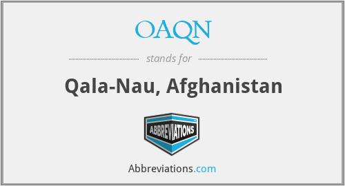 OAQN - Qala-Nau, Afghanistan