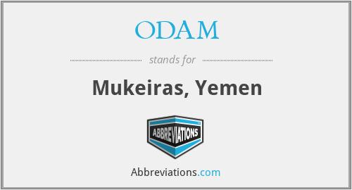 ODAM - Mukeiras, Yemen