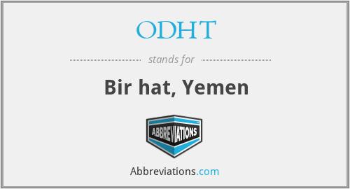 ODHT - Bir hat, Yemen
