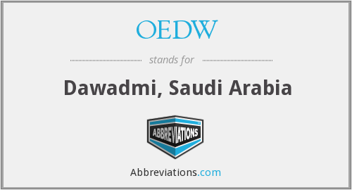 OEDW - Dawadmi, Saudi Arabia
