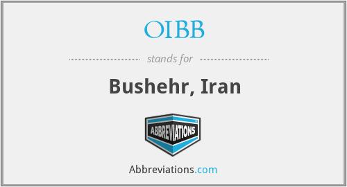 OIBB - Bushehr, Iran