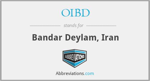 OIBD - Bandar Deylam, Iran