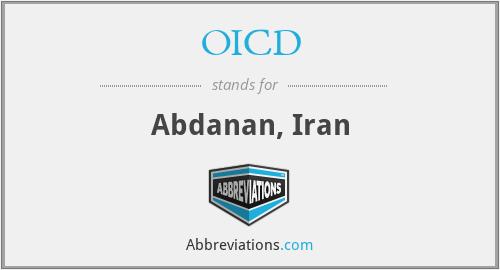 OICD - Abdanan, Iran