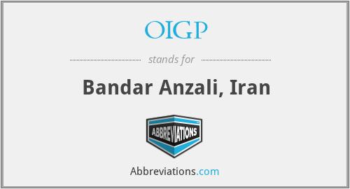 OIGP - Bandar Anzali, Iran
