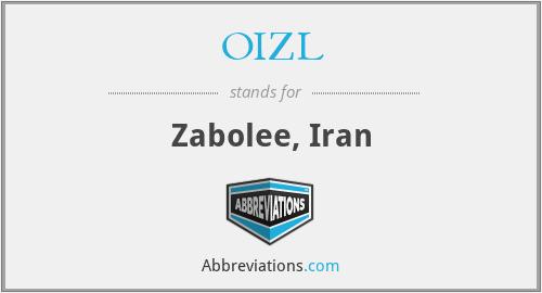 OIZL - Zabolee, Iran