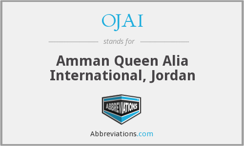 OJAI - Amman Queen Alia International, Jordan