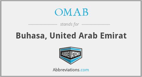 OMAB - Buhasa, United Arab Emirat