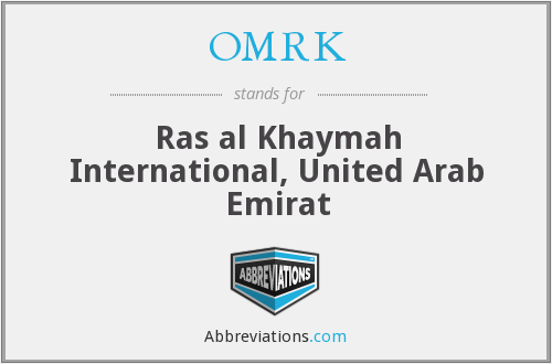 OMRK - Ras al Khaymah International, United Arab Emirat