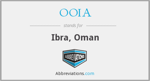 What does OOIA stand for?