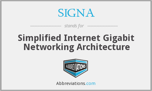 What does SIGNA stand for?