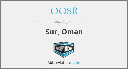 OOSR - Sur, Oman