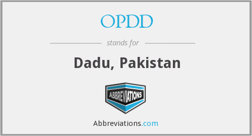 What does OPDD stand for?