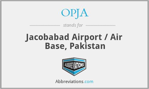 OPJA - Jacobabad Airport / Air Base, Pakistan