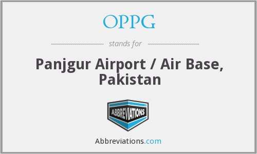 OPPG - Panjgur Airport / Air Base, Pakistan