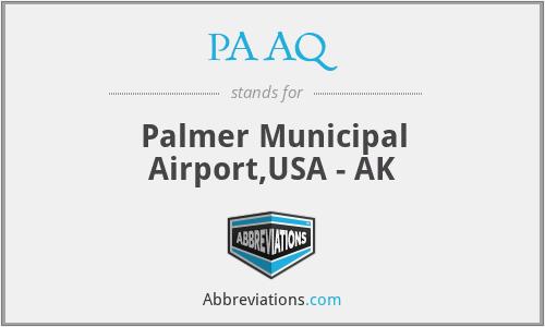 PAAQ - Palmer Municipal Airport,USA - AK