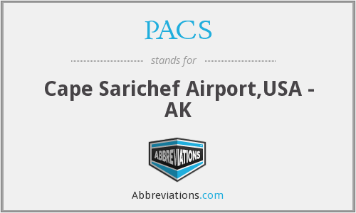 PACS - Cape Sarichef Airport,USA - AK