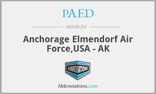PAED - Anchorage Elmendorf Air Force,USA - AK
