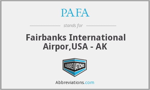 PAFA - Fairbanks International Airpor,USA - AK