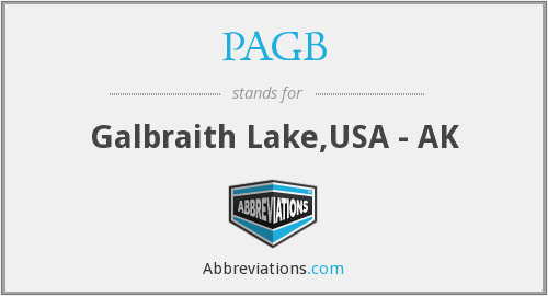 PAGB - Galbraith Lake,USA - AK