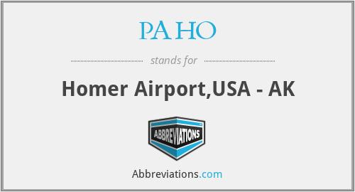 PAHO - Homer Airport,USA - AK