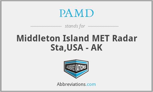 PAMD - Middleton Island MET Radar Sta,USA - AK