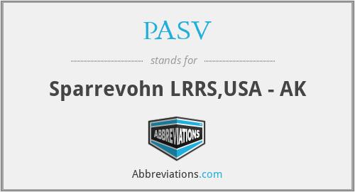 PASV - Sparrevohn LRRS,USA - AK