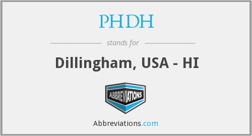 What does PHDH stand for?