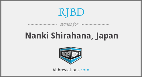 What does RJBD stand for?