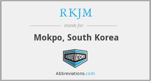 RKJM - Mokpo, South Korea