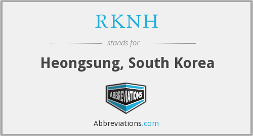 What does RKNH stand for?