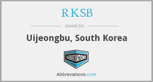 RKSB - Uijeongbu, South Korea