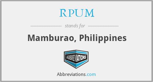 RPUM - Mamburao, Philippines