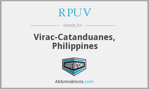 RPUV - Virac-Catanduanes, Philippines