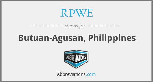 RPWE - Butuan-Agusan, Philippines
