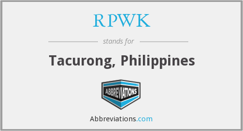 What does RPWK stand for?