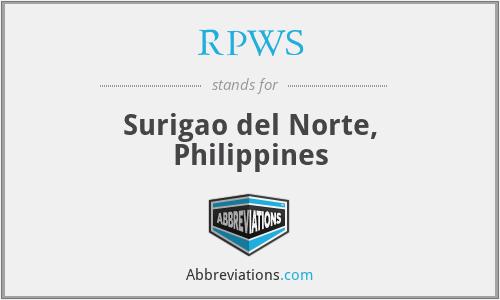 RPWS - Surigao del Norte, Philippines